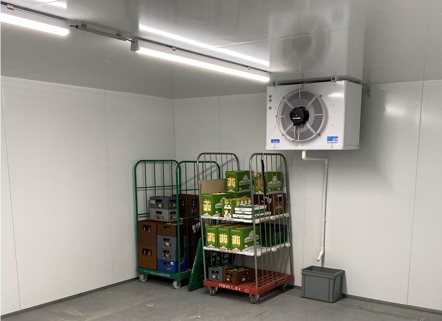 Cool, cooler, Kühlzelle der Regionalwert Frischekiste